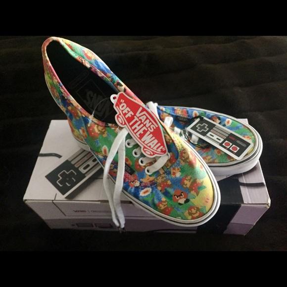 Vans Shoes - Slightly used Vans super Mario s shoes W8 M 6.5 3d19ea8cd